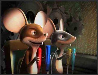 دو عدد موش انیمیشنی